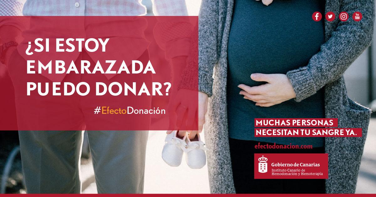 Se puede donar sangre estando embarazada, habiendo sufrido un aborto o después de un parto