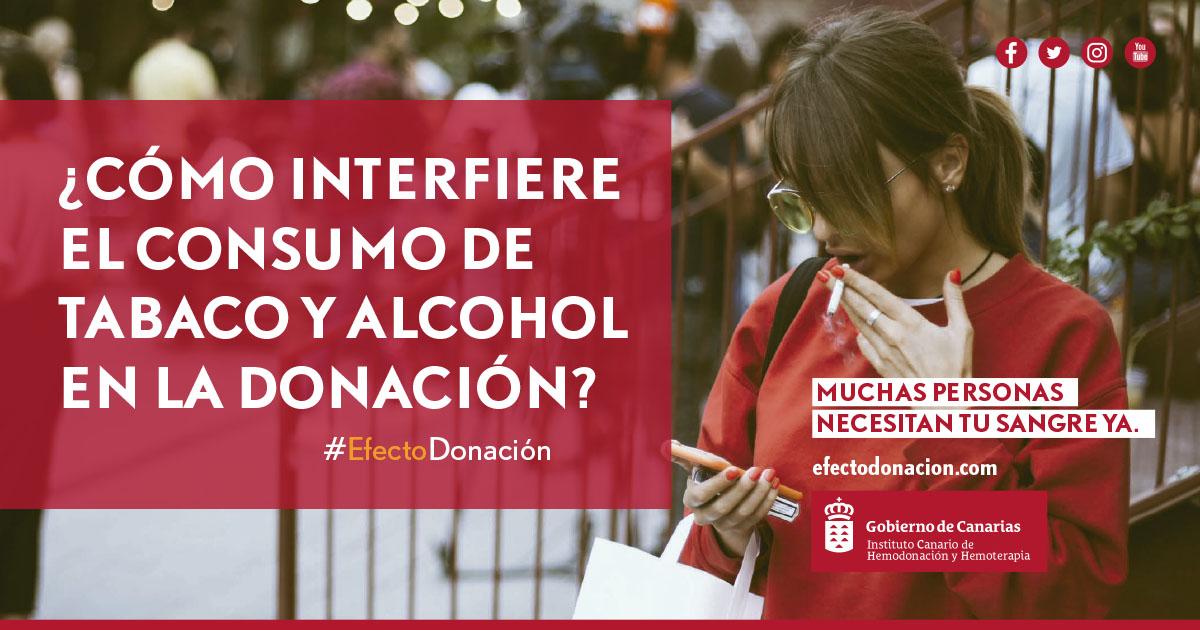 El consumo de tabaco o alcohol, ¿cómo interfiere en la donación