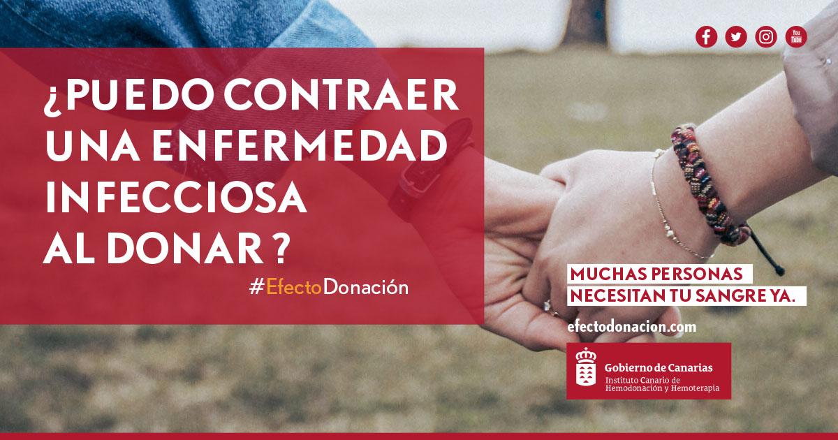 Se puede contraer alguna enfermedad durante la donación de sangre