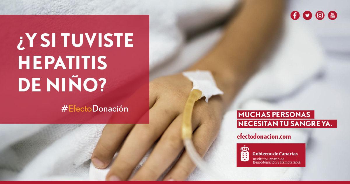 Se puede donar habiendo sufrido hepatitis en la infancia