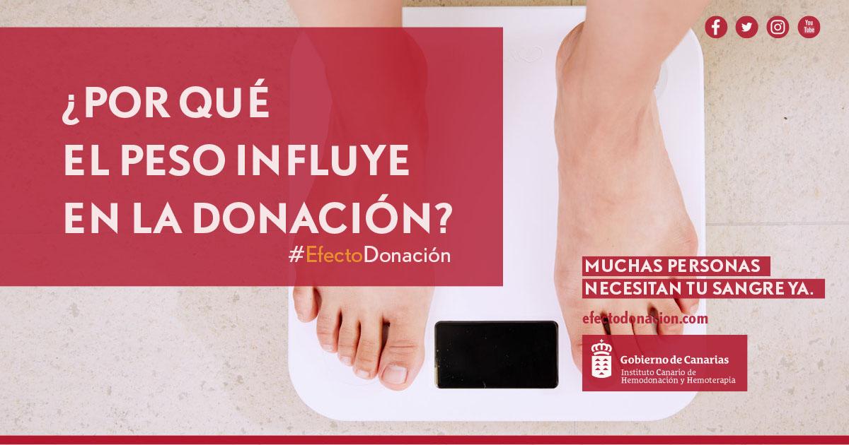 ¿Por qué el peso influye en la donación?