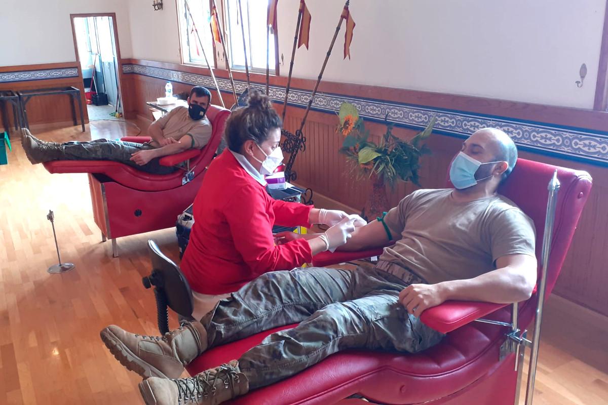 El ICHH y el Ejército de Tierra colaboran en una campaña de donación de sangre en las bases de Tenerife