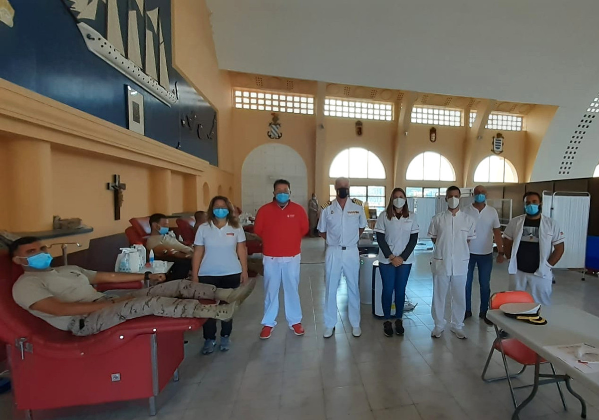 La Base Naval acogió ayer una campaña de donación de sangre del ICHH