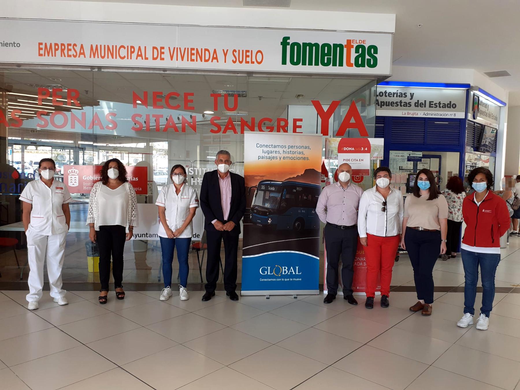 El ICHH celebra una colecta de donación de sangre con la empresa Global en Telde