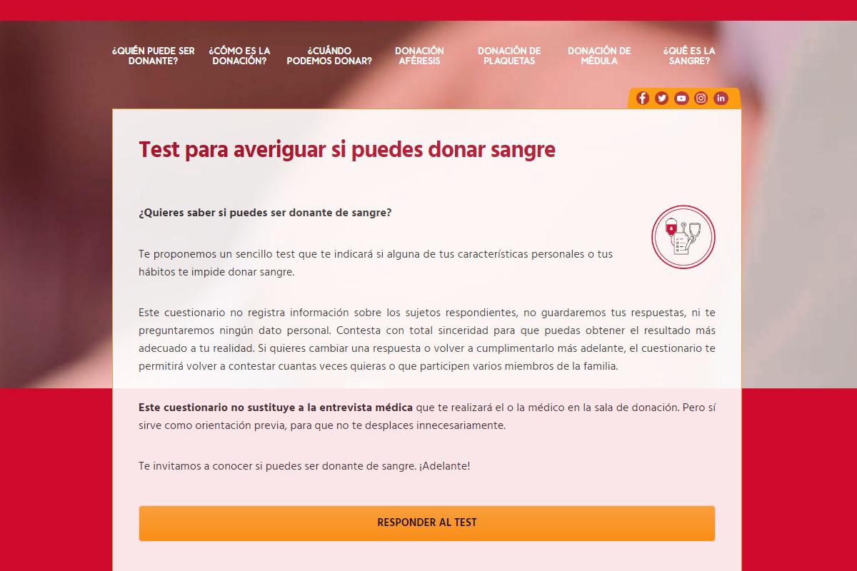 El ICHH crea un cuestionario para que las personas interesadas en donar sangre evalúen si pueden hacerlo